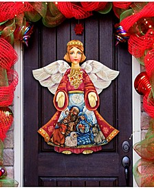 Nativity Christmas Angel Christmas Door Hanger