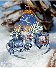 Christmas Train Scenic Decorative Ornament Large