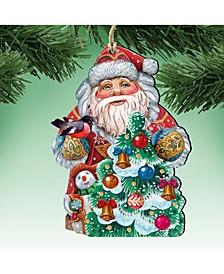 Santa Tree Decorating Ornament Set of 2