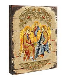 "Icon Old Testament Trinity Wall Art on Wood 8"""