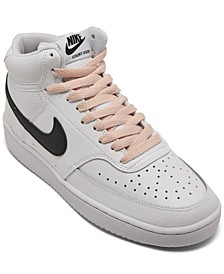 Women's Nike court Vision Mid Casual Sneakers from Finish Line