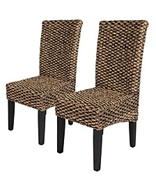 Water Hyacinth Parson Chairs, Set of 2