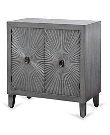 Starburst Design Two Door Wood Cabinet