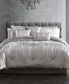 Turin Crinkle 7 Piece Queen Comforter Set