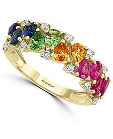 EFFY® Multi-Gemstone (1-7/8 ct. t.w.) & Diamond (1/4 ct. t.w.) Ring in 14k Gold