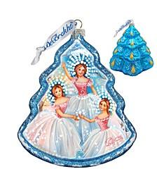 Snowflakes Tree Glass Ornament