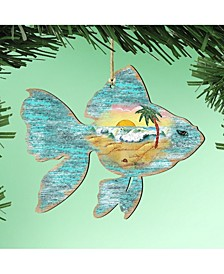 Fish Wooden Ornaments, Set of 2