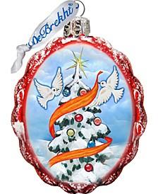 Dove Tree of Peace Keepsake Glass Ornament