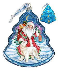 Frosted Story Holiday Splendor Glass Ornament