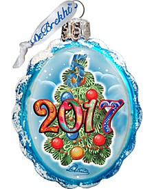 Dated Glass Ornament