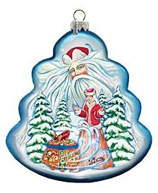 Treasure Chest Tree Glass Ornament