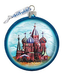 Saint Basil Cathedral Glass Ornament