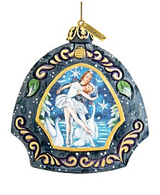 Hand Painted Scenic Ornament Swan Lake Ornament