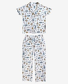 Pooh Friends Notched Collar Women's Pajama 2 Piece Set