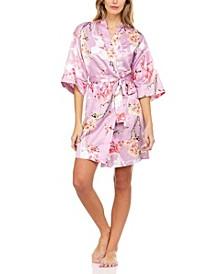 Trinity Floral Wrap Robe