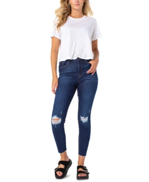 Ripped High-Rise Jeans