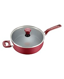 Excite Nonstick 5 Qt. Jumbo Cooker with Lid, Red