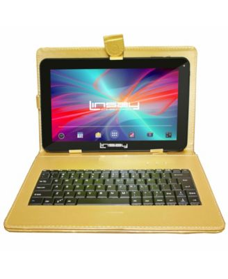 "LINSAY 10.1"" New Quad Core 16 GB Tablet Android 6.0 Bundle Deluxe with Keyboard"
