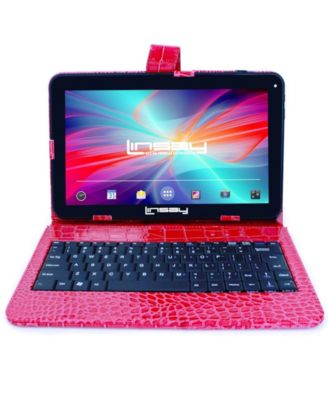 "LINSAY 10.1"" New Tablet Quad Core 16 GB Android 6.0 Exclusive Luxury Bundle with Crocodile Style Keyboard"