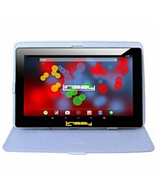"10.1"" 1280 x 800 IPS Screen Quad Core 2 GB Ram Tablet 16 GB Android 6.0 with Leather Case"