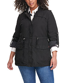 Levi's® Trendy Plus Size Lightweight Cotton Fishtail Parka