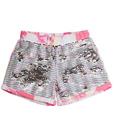 Big Girls Flip-Sequin Tie-Dyed Cotton Active Shorts