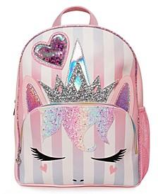Girls Queen Miss Gwen Striped Unicorn Full Size Backpack
