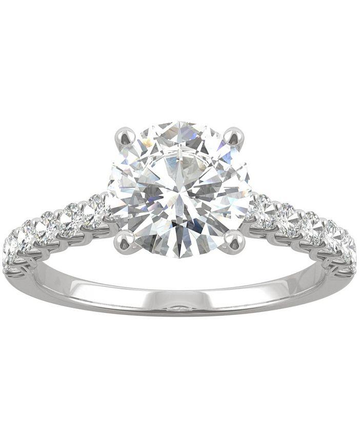 Charles & Colvard - Moissanite Engagement Ring (1-9/10 ct. t.w. DEW) in 14k White Gold