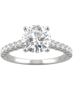 Moissanite Engagement Ring (1-9/10 ct. t.w. Dew) in 14k White Gold