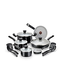 Initiatives Ceramic 14 Pc. Cookware Set, Black