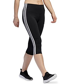 Women's Striped Cropped Leggings