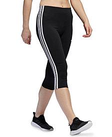 adidas Women's Striped Cropped Leggings