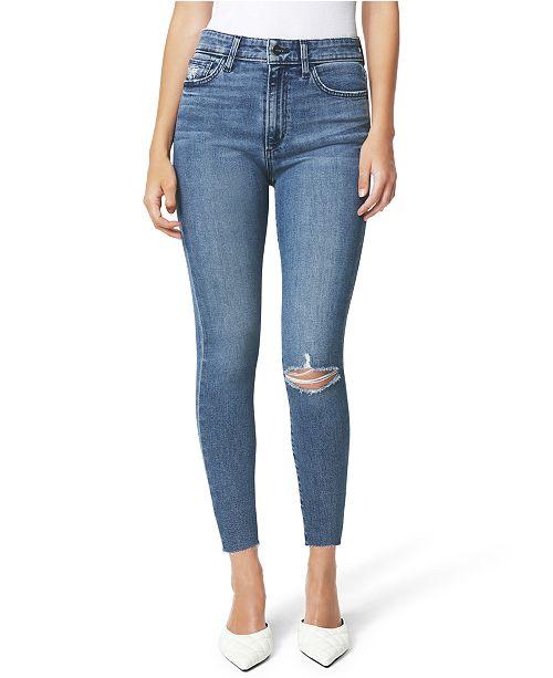 Joe's Jeans Charlie Cut-Hem Ripped Cropped Skinny Jeans