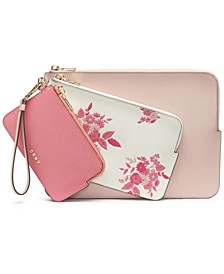 Bryant Floral Wristlet Pouches, Set of 3