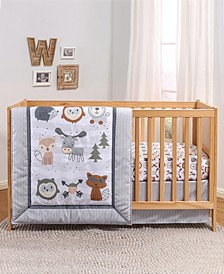 PSP Woodland Walk 3-Piece Crib Bedding Set