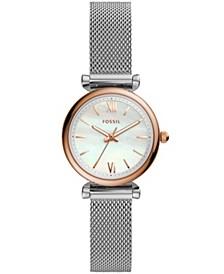 Carlie Mini Three-Hand Stainless Steel Watch 28mm