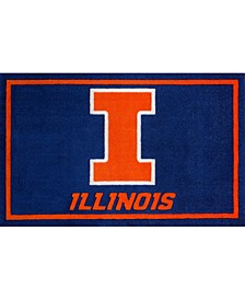 "Illinois Colil Blue 1'8"" x 2'6"" Area Rug"