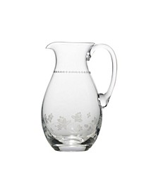 Vintage-like Floral Pitcher