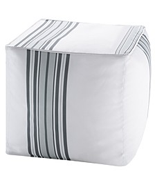 Newport Stripe Scotchgard Outdoor Pouf