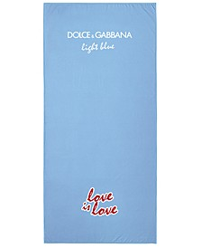 Receive a Light Blue Love is Love Towel with any large spray purchase from the Dolce & Gabbana Men's & Women's Light Blue Fragrance Collection