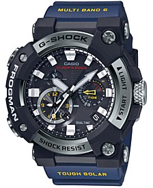 Men's Solar Connected Frogman Blue Resin Strap Watch 53.3mm