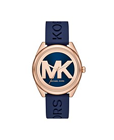 Women's Janelle Three-Hand Navy Silicone Watch 42mm MK7140