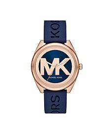 Women's Janelle Three-Hand Navy Silicone Watch 42mm MK7140