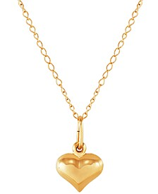 """Back-to-Back Heart 13"""" Choker Necklace in 14k Gold"""