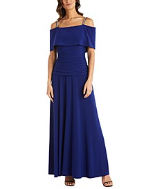 Cold-Shoulder Banded Gown