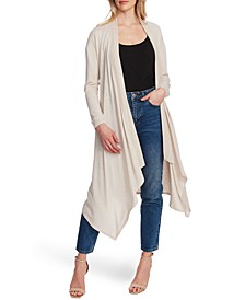 Drape-Front Maxi Cardigan Sweater