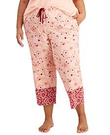 Plus Size Cotton Capri Pajama Pants, Created for Macy's