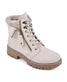 Women's Mandy Lace-Up Lug Sole Booties