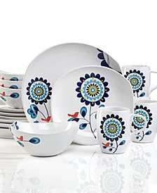 Classic Fjord Tweet 16-Pc. Dinnerware Set, Service for 4