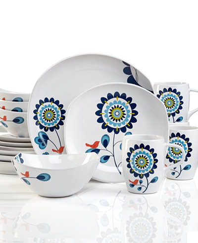 Dansk Classic Fjord Tweet 16-Pc. Dinnerware Set, Service for 4